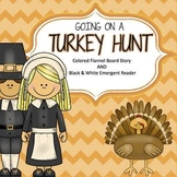 Turkey Themed Flannel Board Story & Emergent Reader
