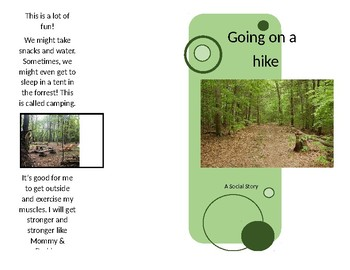 Going on a hike Social Story (FREE)