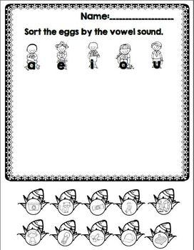 "Going on an Egg Hunt! (An ""Egg-stra"" Fun  CVC Unit)"