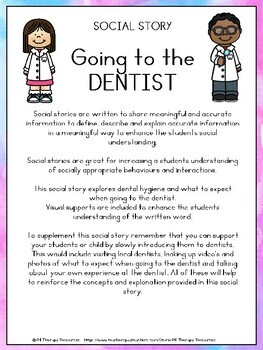 Going the the Dentist - Social Story - autism, special education, stories