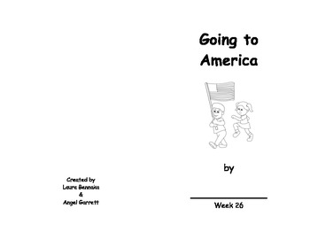 Going to America Sight Word Book- Week 26
