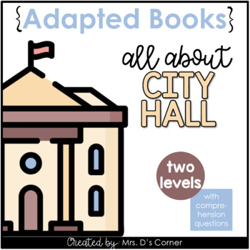 Going to City Hall Adapted Book [ Level 1 and 2 ] | Places in the Community