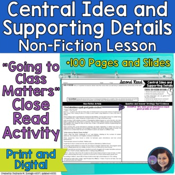 Going to Class Matters?: Close Read Activity to Determine the Central Idea