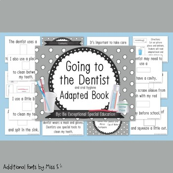 Going to Dentist and Oral Hygiene Adapted Book