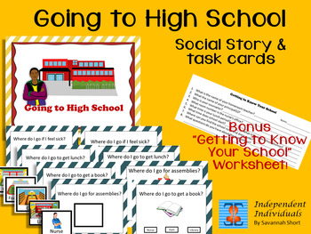 Going to High School Social Story & Task Cards