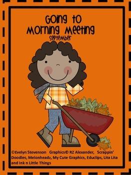 Editable Going to Morning Meeting  September