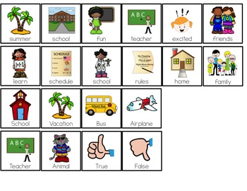 Going to School Adapted Books ( Level 1 and Level 2 )