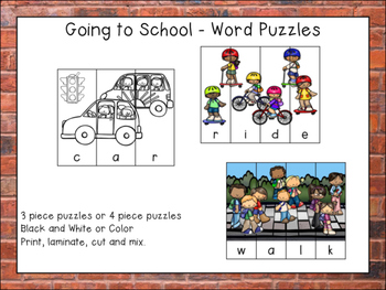 Going to School Puzzles