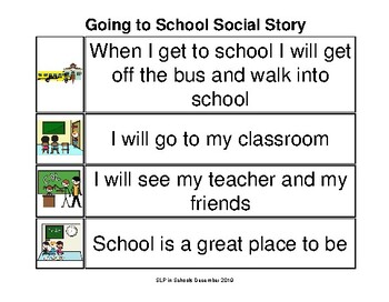 Going to School Social Story Smarty Symbols