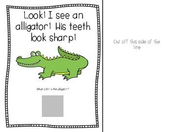 Going to The Zoo Interactive Book Identifying Colors
