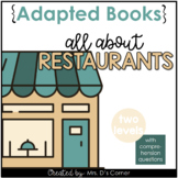 Going to a Restaurant Adapted Book [ Level 1 and 2 ] | Pla