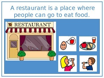Going to a restaurant social story
