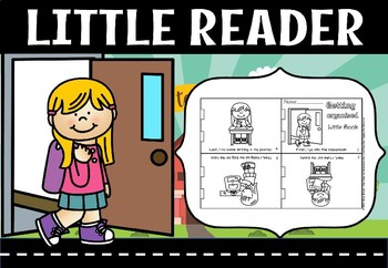 Going to school foldable little book