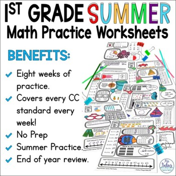 Summer School Math 1st Grade End of the Year CC & TEKS Aligned