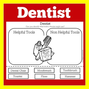 Going to the Dentist | Dentist Worksheet | Teeth Dental Health