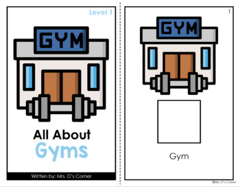 Going to the Gym Adapted Book [ Level 1 and 2 ] | Places in the Community