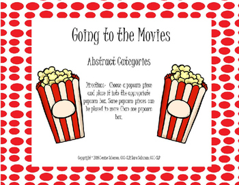 Going to the Movies- Abstract Categories