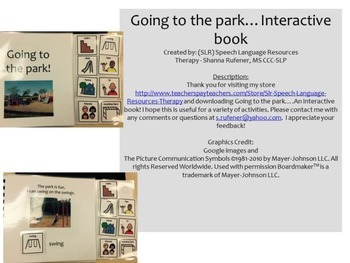 Going to the Park! An Interactive Book