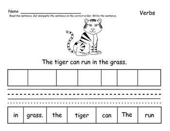 Going to the Zoo Action Verbs