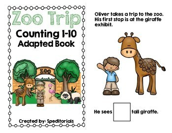 Going to the Zoo Adapted Book (Counting 1-10)