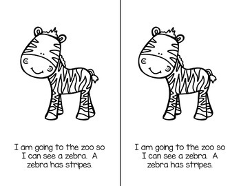 Going to the Zoo {Differentiated Emergent Reader}