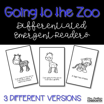 Going to the Zoo {Emergent Reader}