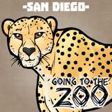 Going to the Zoo! -- San Diego -- 12 Wild Animals -- 100+ K-2 Resources