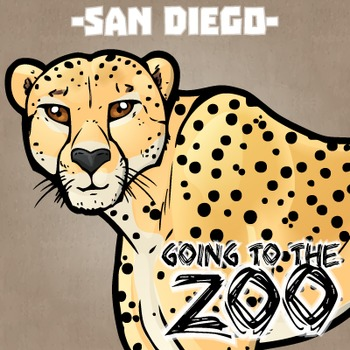 Going to the Zoo! -- San Diego -- 12 Wild Animals -- 100+ K-2 Resources