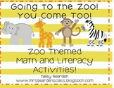 Going to the Zoo! You Come Too! Math and Literacy Unit!