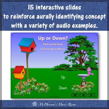 Melodic Direction Up or Down? Interactive Music Game & Assessment {bird}