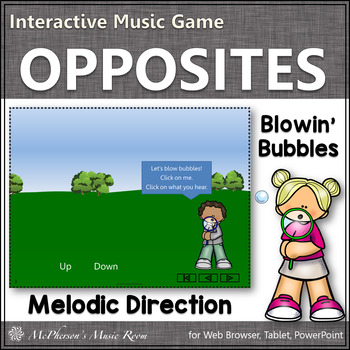 Up or Down? Melodic Direction Interactive Music Game (bubbles)