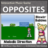 Spring Music Game: Up Down Melodic Direction Interactive Music Game {bubbles}
