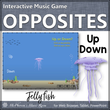 Melodic Direction Up or Down? Interactive Music Game {jellyfish}