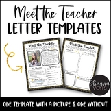 Meet the Teacher Letter Templates EDITABLE