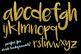 Gold Alphabet, Indvidual Gold Clipart Letters, PNG alphabet