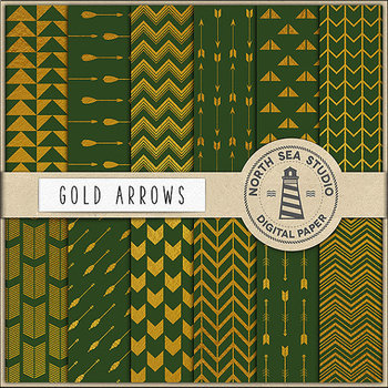 Gold And Green Papers, Gold Patterns