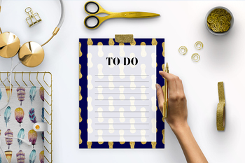Gold And Navy Printable To Do List