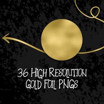 Gold Arrows Clip Art - 36 PNG Files