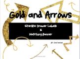 Gold & Arrows Drawer Labels/ Banner Labels