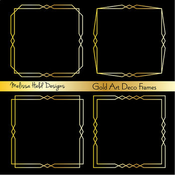 Gold Art Deco Frames