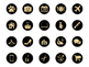 Gold & Black Instagram Icons, Gold Instagram Story Highlights
