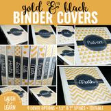 Editable Binder Covers {Gold & Black}