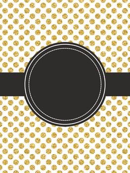 Editable Binder Covers {Gold & Black}