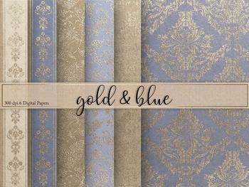Gold & Blue Textures