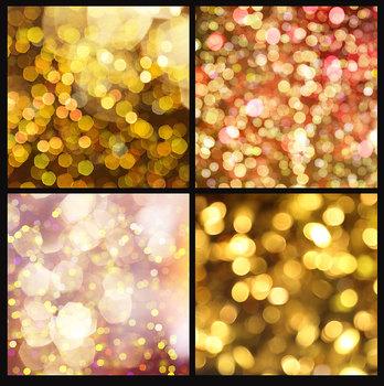 Gold Bokeh Digital Paper