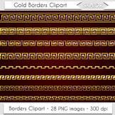 Gold Borders Clip Art Greek Borders Clipart Decorative Scr
