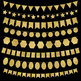 Gold Bunting Banners Clip Art