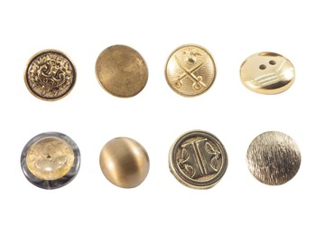 Buttons Gold Real Photo Clipart