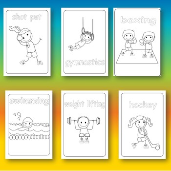 Summer International Games Colouring Pages