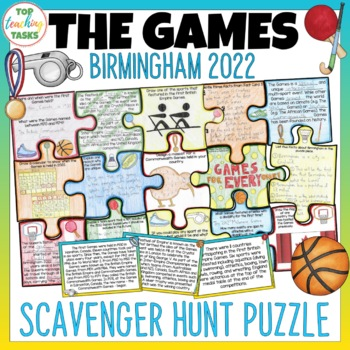 2018 Commonwealth Games Scavenger Hunt Puzzle Activity
